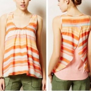 S Anthropologie Meadow Rue Split Back Tank Top